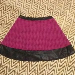 Pink & black skirt size 9